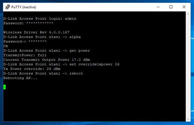 D-Link DWL-2100AP - увеличение мощности точки доступа