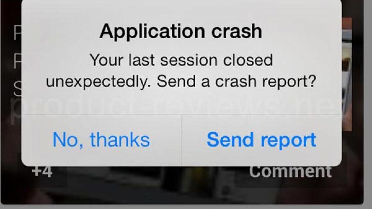 apps crashing
